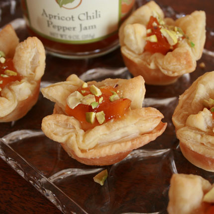 Goat Cheese and Apricot Pastry Cups