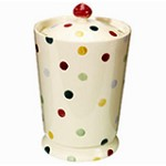 Polka Dot Biscuit Jar