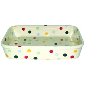 Polka Dot Large Rectangular Baking Dish