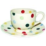 Polka Dot Tea Cup & Saucer
