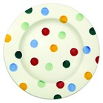Polka Dot Lunch Plate