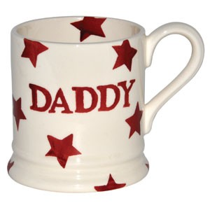 Daddy Red Star Mug Collectable