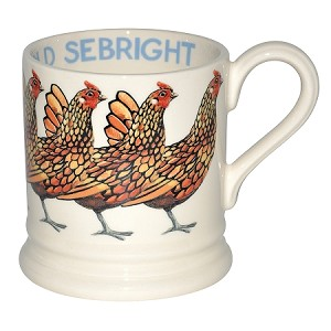Gold Sebright Hen 1/2 Pint Mug