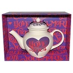 I Love Chocolate 2-Cup Teapot Boxed