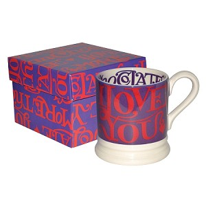 I Love Chocolate 1/2 Pint Mug Boxed-RETIRED