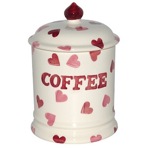 Pink Hearts Coffee Storage Jar