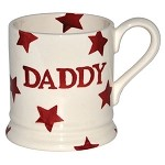 Daddy Red Star 1/2 Pint Mug