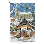 Year in the Country Winter Tea Towel
