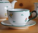 Scattered Blooms Classic Coffee Cup & Saucer