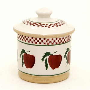 Apple Lidded Sugar Pot