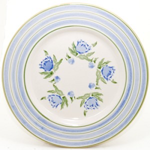 Blue Peony Serving Plate