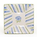 Blue Peony Small Square Plate