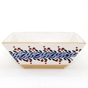 Blue Vine Medium Square Bowl