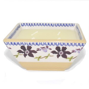 Clematis Square Candle Bowl