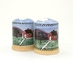 Farmhouse Salt & Pepper Shakers