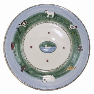 Landscape Mixed Animal Shallow Dish - TEMP OUT OF STOCK