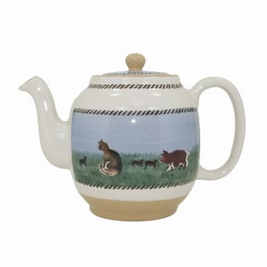 Landscape Mixed Animal Teapot
