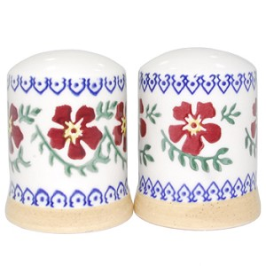 Old Rose Salt & Pepper Shakers