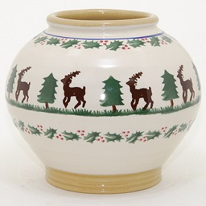 Reindeer 5 Inch Vase RETIRED