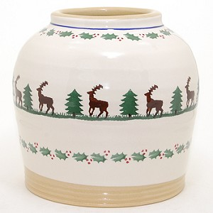 Reindeer 7 Inch Vase RETIRED
