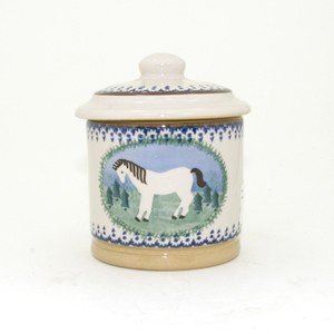 Pony Lidded Sugar Pot