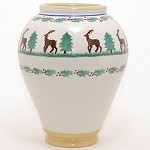 Reindeer Medium Vase Old Style