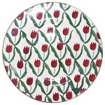 Red Tulip Lunch Plate