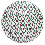 Red Tulip Dinner Plate