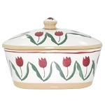Red Tulip Butter Dish