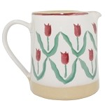 Red Tulip Small Cylinder Jug