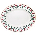 Red Tulip Small Oval Serving Dish