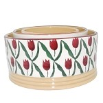 Red Tulip Stacking Bowls Set/3