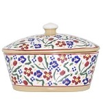 Wild Flower Meadow Covered Butter Dish