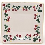 Strawberry Small Square Plate