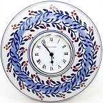Blue Vine Wall Clock