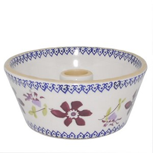 Clematis Reversible Candlestick with Candle