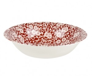 Red Calico Soup/Pudding Bowl