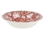 Red Calico Soup or Pasta Bowl
