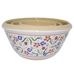 Wild Flower Meadow Kitchen Bowls Set/3
