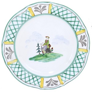 Hunt Baroque Dinner Plate 9.25""