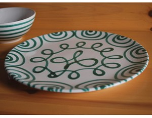 Vertigo Flame Green Coupe Dinner Plate 11""