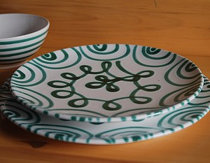 Vertigo Flame Green Coupe Dinner Plate 9.75""