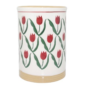 Red Tulip Tall Utensil Drainer