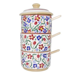 Wild Flower Meadow Relish Tower w/ Spoons