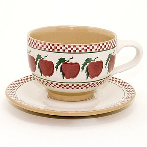 Apple Large Cup & Saucer