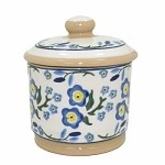 Forget Me Not Lidded Sugar Pot