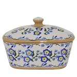 Forget Me Not Butter Dish