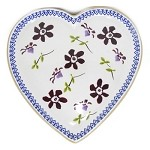 Clematis Heart Shaped Plate
