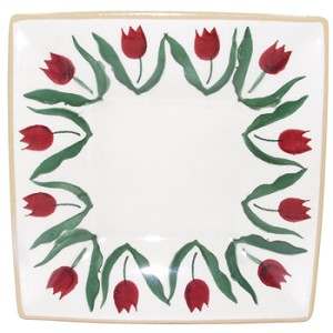 Red Tulip Small Square Plate