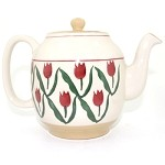 Red Tulip Teapot New Style - RETIRED